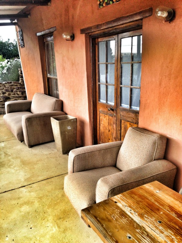 Comfortable couches on veranda