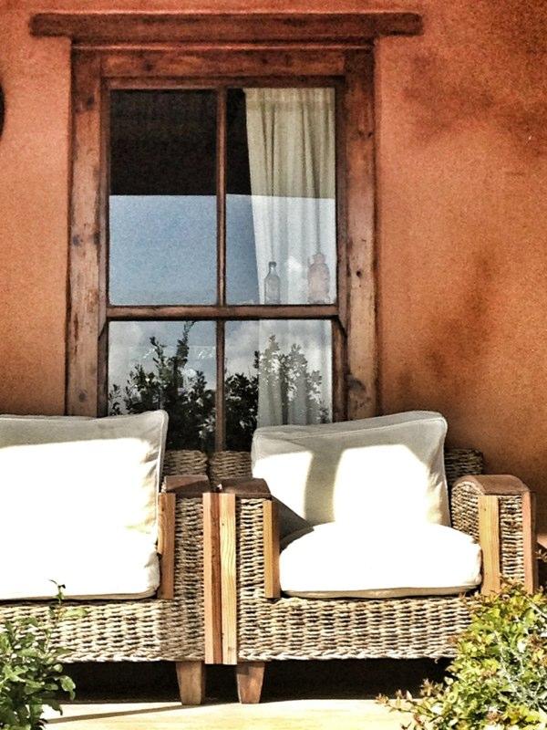 Comfy Wicker couch on veranda