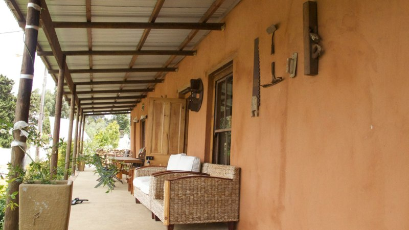 Seating for all on the veranda