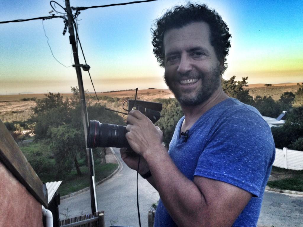 Marius holding camera