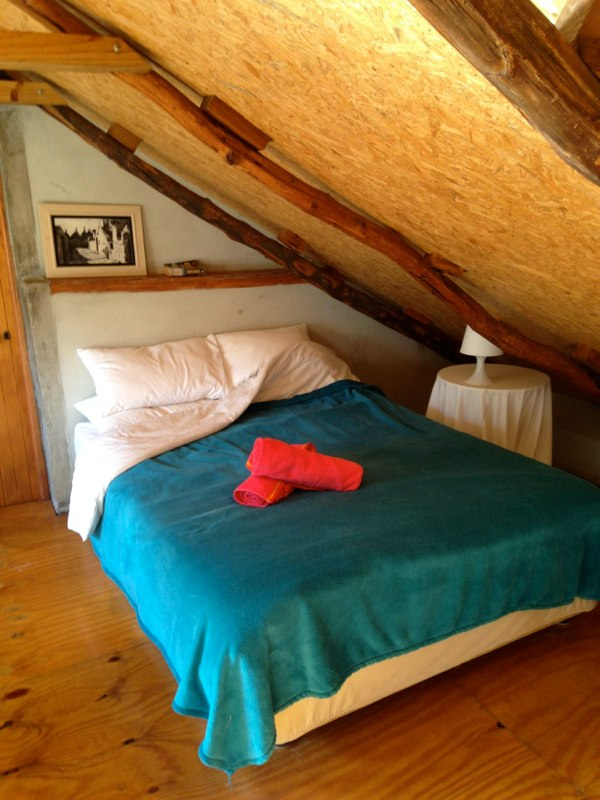 Upstairs loft: Double bed